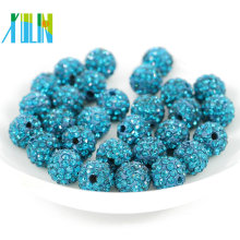 Wholesale rhinestone Beads Pave Bling AAA Crystal Clay Loose Disco Ball Round Shamballa Bracelet Findings